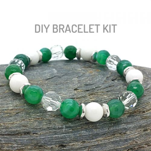 Green Agate Crystal Bracelet DIY Kit