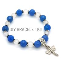 Blue Agate Crystal Bracelet DIY Kit