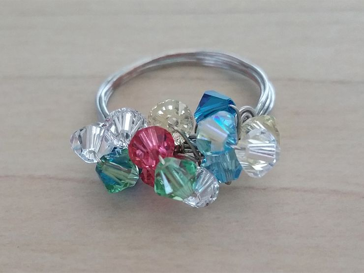 Crystal Cocktail Ring