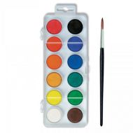 KOH-I-NOOR Watercolor 22.5mm Pan Set x 12 with Brush