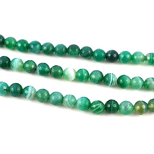 Agate (dyed), sea green, 8mm