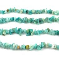 Amazonite (natural), chips, sky blue