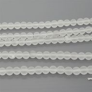 Frosted Crystal, 6mm (12 pcs)