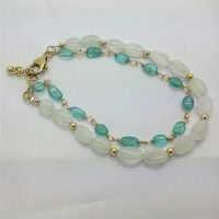 Apatite Rainbow Moonstone Goldfilled Bracelet