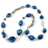 Sea Blue Chalcedony Necklace